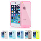 Color Slim Clear Transparent JELLY TPU Gel Soft Skin Case Cover For iPhone 5 5S