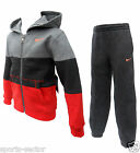 Nike Little Boys/Youth Hooded Tracksuit grey/Charcoal/Orange Size M 5-6 Years