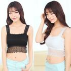 Women Ladies Sexy Lace Chest Wrap Bandeau Boob Tube Bra Strap Vest Top 2 Colours