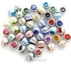 100pcs Aluminium Engraved  Mixed Color Loose Bead Spacer Beads 6mm 8mm 10mm