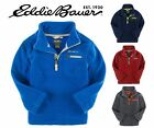 New Boys Eddie Bauer ¼ zip soft micro polar fleece top pullover 5 7 10 12