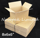 "8x6x6"" SMALL SINGLE WALL CARDBOARD MAILING BOXES - POSTAL / PACKING / SHIPPING"