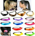 SYNTHETIC PONYTAIL HOLDER HAIR PONIO ELASTIC HAIR BAND WRAP BOBBLE TIE TOP KNOT