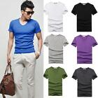 fascina Wholesale Lots Men Slim Shirt Fitted V-neck Short Sleeve Muscle T-Shirts