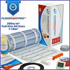 Electric Underfloor Undertile Heating Kit 200w ALL SIZES 1-18m² Stone Ceramic