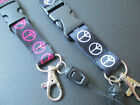 Lanyards peace symbol design  ID badge holder mobile phone neck strap