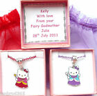 Hello Kitty Fairy Godmother Necklace Personalised Box  Bridesmaid, Birthday Gift