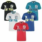 KIDS SHORT SLEEVE POLO SHIRT BOYS SPORTS NEW YORK FASHION PRINT TOP SIZES 3-16Y