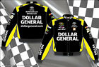 2014 Matt Kenseth Dollar General Mens Black Twill Authentic Nascar Jacket-JH