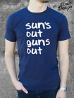 SUNS OUT GUNS OUT T-shirt Gym Workout Weight Lifting Body Build Vest Jump Street