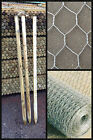 Wire Fence Kit, Wire netting, Wood Posts, Staples, 2ft 3ft, 600mm, 900mm