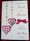 Personalised Handmade Wedding Anniversary Engagement Wedding Card (1556PGRS)