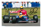 Ayrton Senna and Nigel Mansell Signed Photo Print Autograph Giving A Lift F1