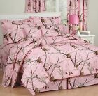 Girls Realtree AP Pink Camo Bedding Comforter Set & Sheets with Curtain Option
