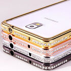 Crystal Rhinestone Diamond Metal Case Cover Bumper For Samsung Galaxy Note 2 3