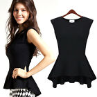 Women's Sexy Mini Peplum Slim Fit Party Tops Blouse Dress Comfy Casual Shirts