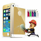 Premium Real tempered glass mirror Screen protector front + Back for iPhone 5 5S