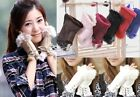 Sweet Women Girl Real Rabbit Fur Hand Wrist Warmer Fingerless Winter Gloves
