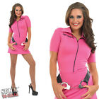 Pink Ladies Prisoner Convict Fancy Dress Costume Hen Night Party Outfit