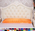 "1 pc 100% Silk Body Pillowcase Long Bolster Silk Pillowcase 20""X54""  30 colors"