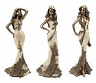 Art Deco Ladies Evening Lace Collection Lady Dress Figurine Gift Ornament Statue