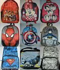 PRIMARK MARVEL 1D BACKPACK RUCKSACK RETRO SCHOOL GYM TRAVEL BAG SUPERHEROES NEW
