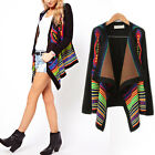 1 Lady Women Vintag Trend Geometry Contrast Color Knit Scarf Tippet Shawl Poncho