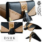 LYDC Designer  Ladies Women  Vintage Bow Faux Leather Purse Wallet Clutch