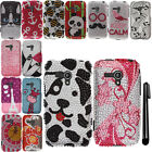 For Samsung Galaxy Rush M830 DIAMOND BLING CRYSTAL HARD Case Cover Phone + Pen