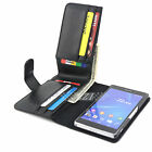 Long Wallet Credit Flip PU Leather Case Cover For Sony Xperia Z Z1 Compact Z2