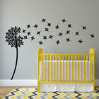 Dandelion with Floating Fluer De Lys Seeds Vinyl Wall Decal New Orleans art K556