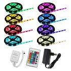 1-10M RGB 5050 SMD Waterproof LED Light Strip Flexible + IR Remote 12V Power Kit