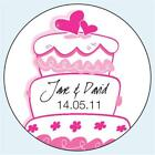 Personalised Wedding Stickers Labels. Any Colour. 5 sizes. Wedding Cake 045
