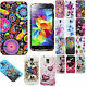 Vintage Flowers Pattern Floral Silicone TPU Back Case Cover Samsung Galaxy S5