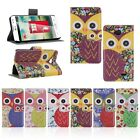 Magnetic Flip Owl PU Leather Wallet Pouch Stand Case Cover For LG Optimus L70