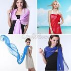 1 Long Soft Silk Women Chiffon Scarf Shawl Fashion Scarves16 Color U Pick Favor