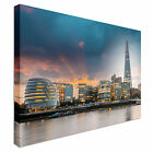 New London city hall at sunset - Canvas Art Cheap Print - Multiple Sizes