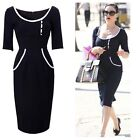 50s Retro Vintage Celeb Womens Pinup Rockabilly Party Cocktail Midi Sheath Dress