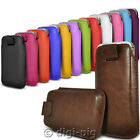 COLOUR (PU) LEATHER PULL TAB POUCH CASES FOR LATEST ALCATEL MOBILE PHONES