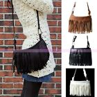Fashion Ladies Womens Handbag PU Leather Tassel Fringe Shoulder Bag Coin Purse
