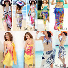 Color Women Chiffon Swimsuit Bikini Beach Dress Towel Cover Up Top Swimwear Ad