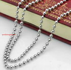 "18""-36"" 100pcs/Lot Fashion 2.4mm Ball Chain Stainless Steel Link Chain Necklace"