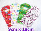 85x Reliable Plastic Gift Jewellery Bags Shopping Market 9x18cm Floral Pattern