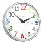 Roco Verre Modern Classic Wall Clock 26cm POLISHED/ BRUSHED 5 DIAL DESIGNS