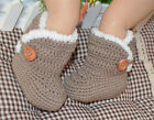 5 colours! Newborn Baby girl boy Crochet Knit ugg-ly Boots Shoes size 0 1 2 3