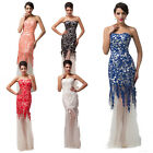 Luxury Mermaid Style Sexy Lace Bridesmaid Wedding Long Evening Party Prom Dress