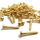 Brass Screw 4 x 3/4  slotted round head self colour woodscrew 20mm