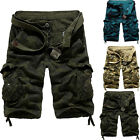 Mens Summer Military Army Work Casual Cotton Combat Camo Cargo Shorts Pants NEW