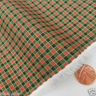 GREEN & red tiny check Christmas Fabric 100 % cotton  per 1/2 mtr or per FQ