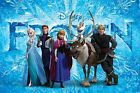 Disney Frozen Characters A4 or A3 Laminated Photo Poster Laminated